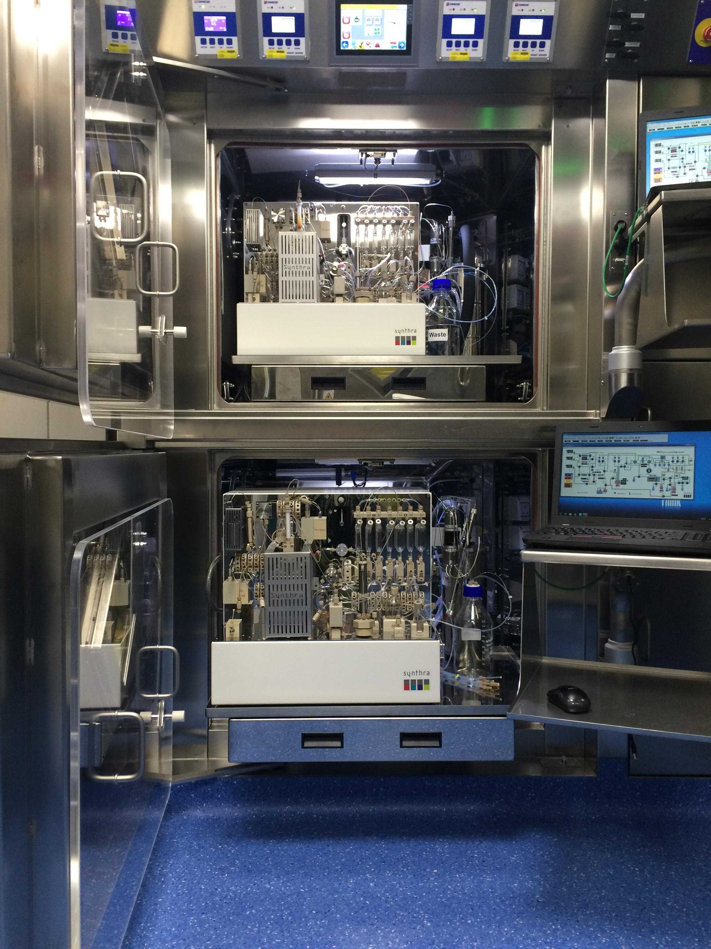 WBIC has installed the first three PET radiochemistry systems for the new GMP facility from Synthra GmbH.